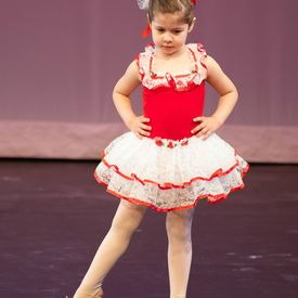 little kid playing ballet