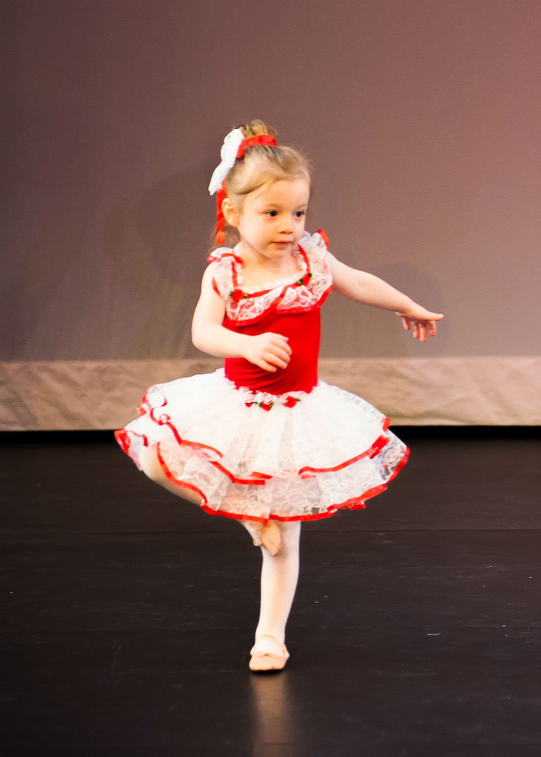 little kid performing ballet